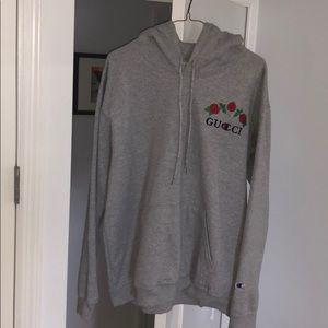 Custom gucci x champion hoodie